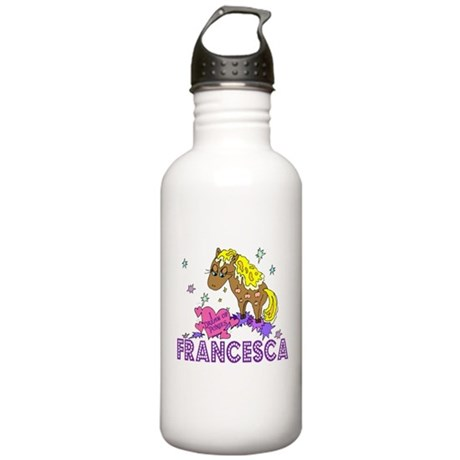 I Dream Of Ponies Francesca Stainless Water Bottle