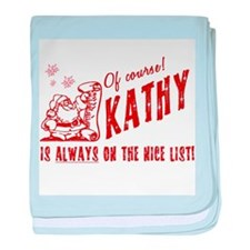 Nice List Kathy Christmas baby blanket