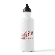 Nice List Kathy Christmas Water Bottle