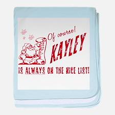 Nice List Kayley Christmas baby blanket