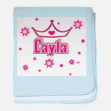 Layla Princess Crown w/Stars baby blanket