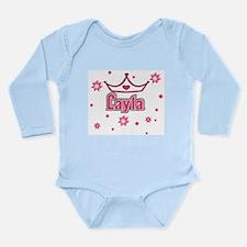 Layla Princess Crown w/Stars Long Sleeve Infant Bo