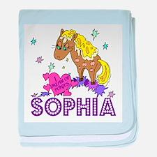 I Dream Of Ponies Sophia baby blanket