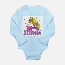 I Dream Of Ponies Sophia Long Sleeve Infant Bodysu