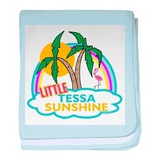 Island Girl Tessa Personalize baby blanket