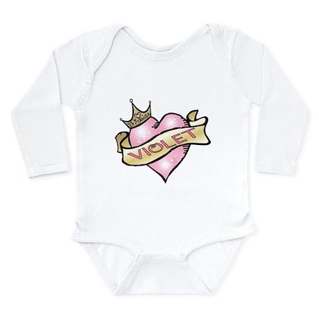 Sweetheart Violet Custom Prin Long Sleeve Infant B