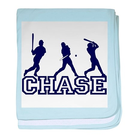 Baseball Chase Personalized baby blanket