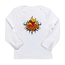 Jack Heart Flame Tattoo Long Sleeve Infant T-Shirt