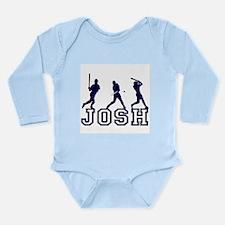 Baseball Josh Personalized Long Sleeve Infant Body