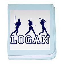 Baseball Logan Personalized baby blanket