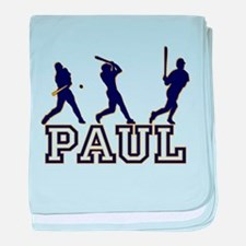 Baseball Paul Personalized baby blanket