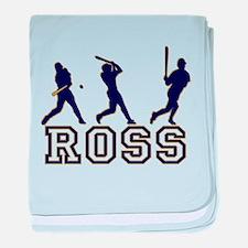 Baseball Ross Personalized baby blanket