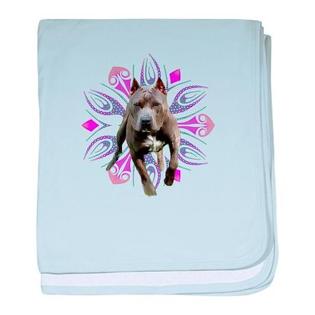 Pit Bull Kaleidoscope Graphic baby blanket