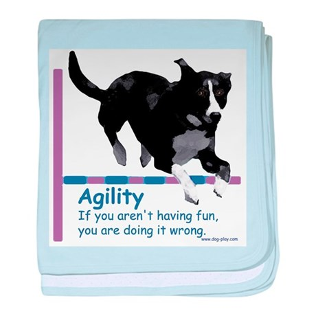 Have Fun in Agility baby blanket