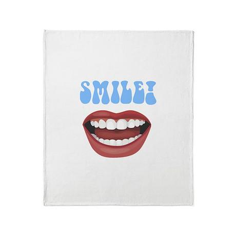 Healthy Smile Throw Blanket