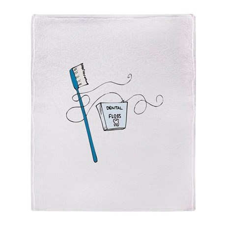 Brush And Floss Dentists Throw Blanket