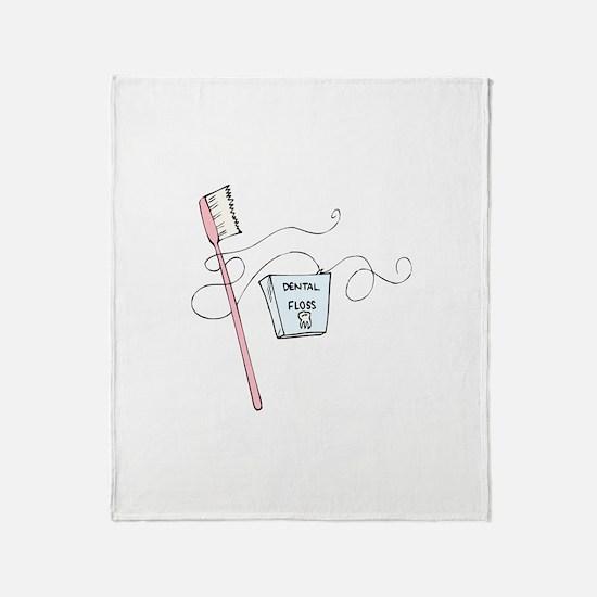 Brush And Floss Dentist Throw Blanket