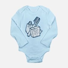 Toothbrush Toothpaste Floss Long Sleeve Infant Bod
