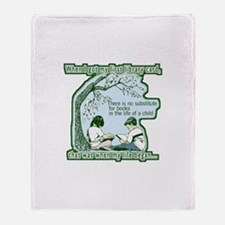No Substitute For Books Throw Blanket