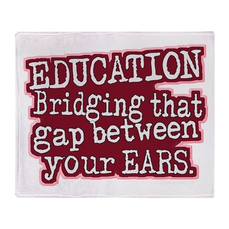 Education, Bridging That GAP Throw Blanket