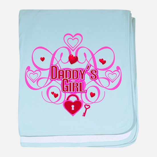 Daddy's Girl Pink/Red baby blanket