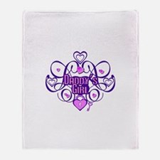 Daddy's Girl Purple/Pink Throw Blanket