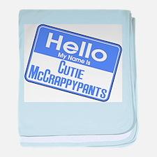 Hello Cutie McCrappypants baby blanket