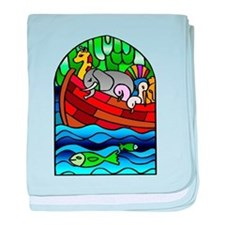 Noah's Ark Stained Glass baby blanket