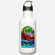 Noah's Ark Stained Glass Water Bottle