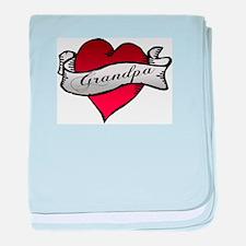 Grandpa Heart Tattoo Baby Tat baby blanket