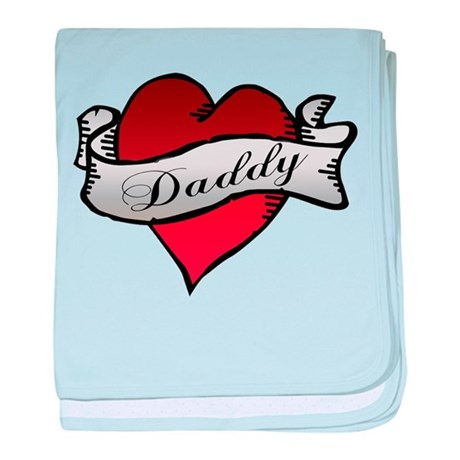Daddy Tattoo baby blanket