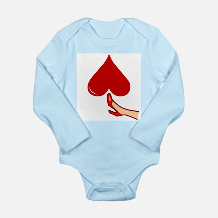 Kicked In The Heart / Butt Long Sleeve Infant Body