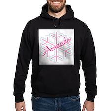 Snowflake Amanda Personalized Hoodie