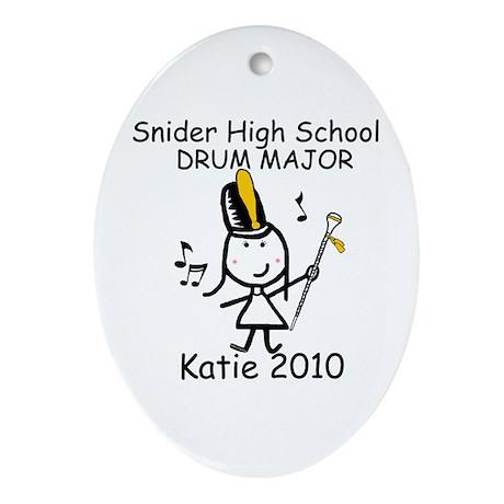 Drum Major - Snider Ornament (Oval)