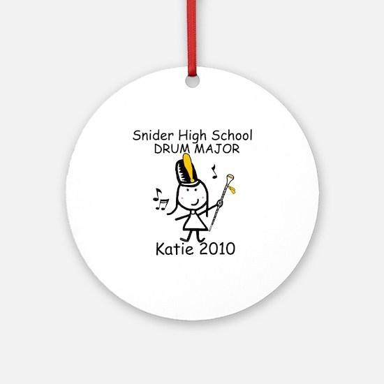 Drum Major - Snider Ornament (Round)