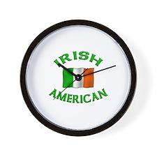 Irish American w/Irish flag Wall Clock