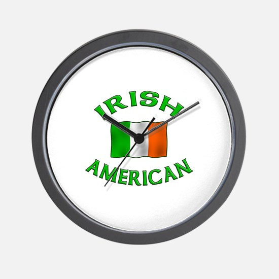 Irish American w/Irish flag Wall Clock