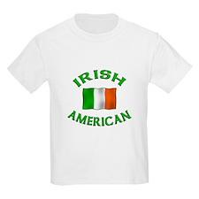 Irish American w/Irish flag Kids T-Shirt