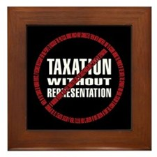 No Taxation Declaration Framed Tile