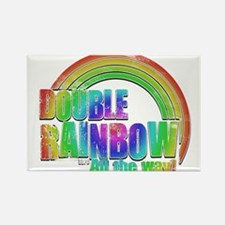Double Rainbow Rectangle Magnet