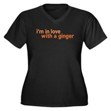 I'm in Love with a Ginger Women's Plus Size V-Neck