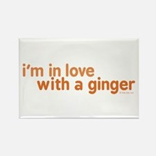 I'm in Love with a Ginger Rectangle Magnet
