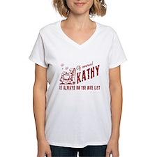 Nice List Kathy Christmas Shirt