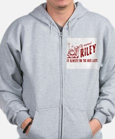 Nice List Riley Christmas Zip Hoodie