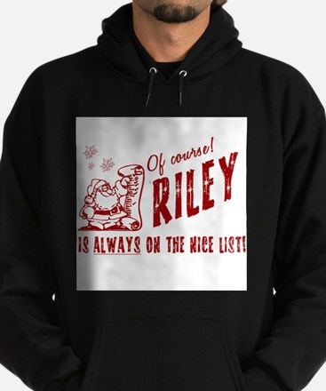 Nice List Riley Christmas Hoodie (dark)