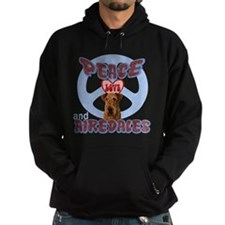 PEACE LOVE and AIREDALES Hoodie