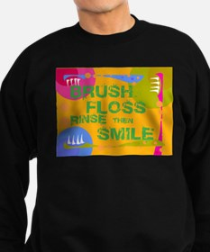 Brush Floss Rinse Smile Sweatshirt (dark)