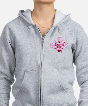 Daddy's Girl Pink/Red Zip Hoodie