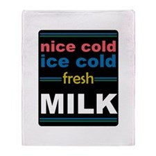 Nice Cold Ice Cold Milk Throw Blanket