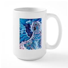 Drinking the Nectar Mug